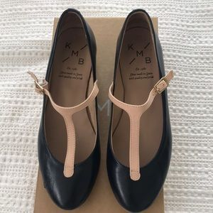 💙💗 [Anthropologie] KMB Navy & Pink T-Strap Shoes